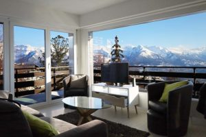 Nendaz apartement Panoramic living room